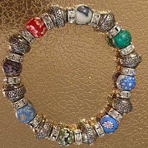 Sparkling Silver, Rhinestone and Decorative Beads